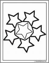 Coloring Stars Star Etoile Circle Nouveaux Populaires Sheet Printable Pdf sketch template