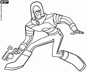 Mr Freeze Coloring Pages - Eskayalitim