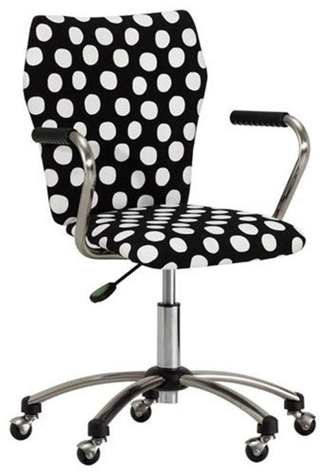 Black And White Polka Dot Office Chair Brings Whimsy To. Bamboo Desk Chair Mat. Old Style Office Desk. Table Pad Protector. Raise A Desk. Wood Stump Side Table. Ikea Round Coffee Table. Ways To Exercise At Your Desk. White Sideboard Table