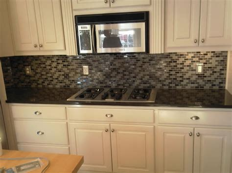 black glass backsplash kitchen best decision to apply glass subway tile for great wall