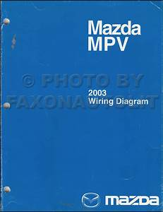 2003 Mazda Mpv Repair Shop Manual Original