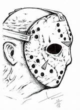 Jason Voorhees Drawing Desenhos Sexta Feira Coloring Friday Tattoo Drawings Halloween Horror Desenho 13th Sketch Scary Pintar Colorir Dibujos Assustadores sketch template