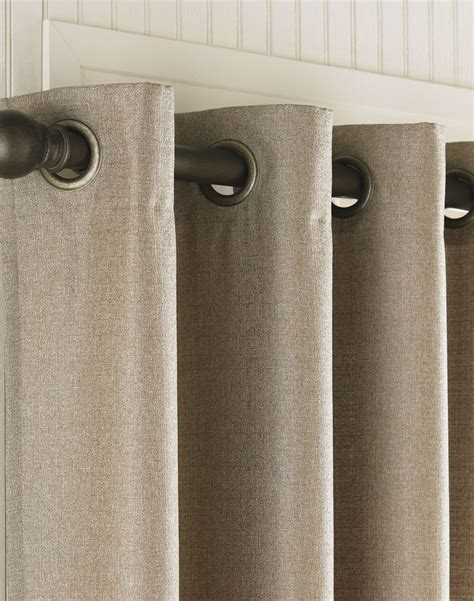 Curtain Rod Grommet Kit by Grommet Curtains Monterey Textured Barkcloth Lined