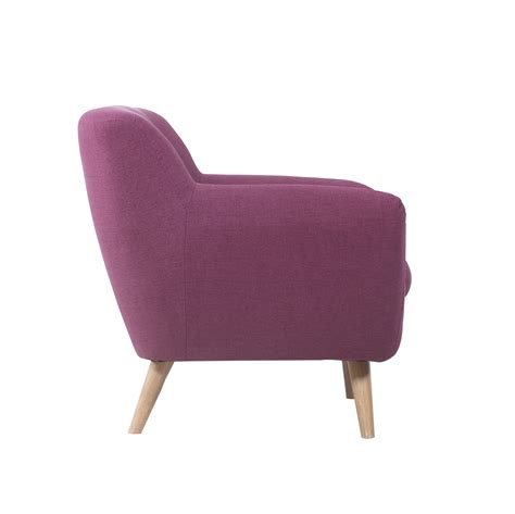 modern accent chair purple mid century tufted button