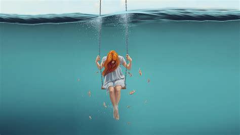 wallpaper girl underwater  girls