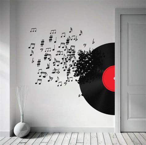 decoration chambre ado basket wall decor wall sticker blowing vinyl record a