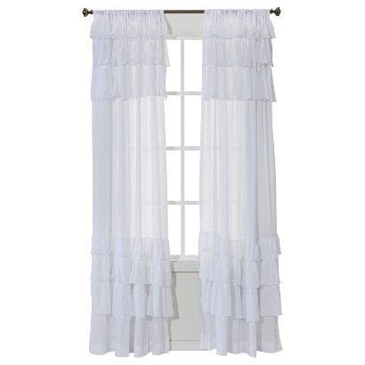 target shabby chic ruffle curtain simply shabby chic 174 potential curtains guest room inspiration pinterest simply shabby