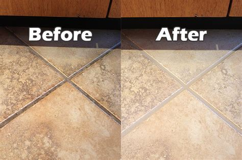 grout cleaning before after images seal systems
