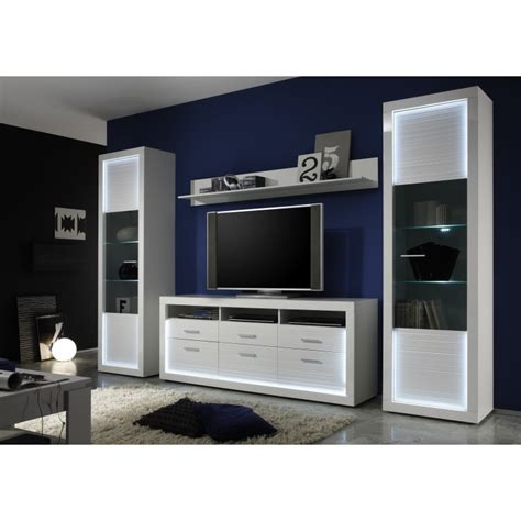 iluminati iv large gloss tv set with led lights wall