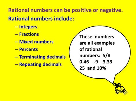 Rational Numbers A Powerpoint For Ms Purcell's 6th Grade