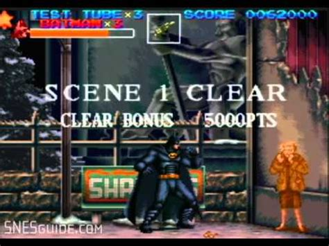 Vitamale Nes V batman returns snes gameplay