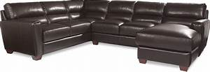 three piece contemporary leather sectional sofa with raf With 3 piece leather sectional sofa with chaise
