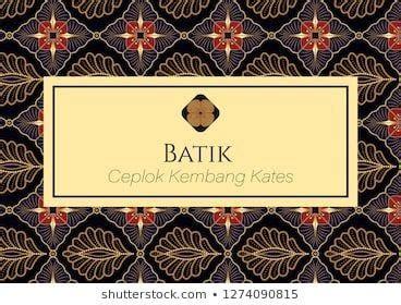 motif batik ceplok kembang kates batik indonesia