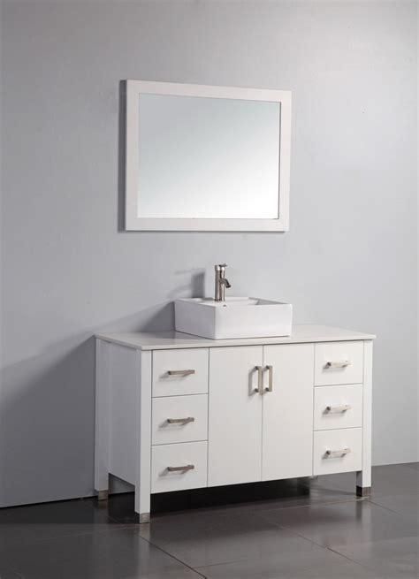 48 inch vessel sink vanity legion 48 inch modern single vessel sink bathroom vanity