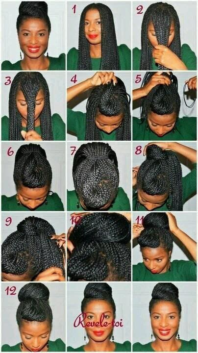 instructions directing     style box braids