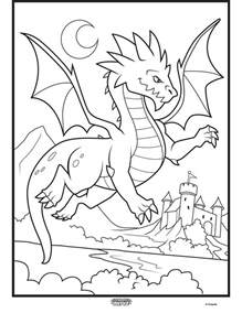 Color Alive Mythical Creatures - Dragon Coloring Page | crayola.com