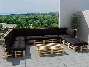 Salon De Jardin En Palette De Bois : salon de jardin en palette bois jardin ~ Voncanada.com Idées de Décoration