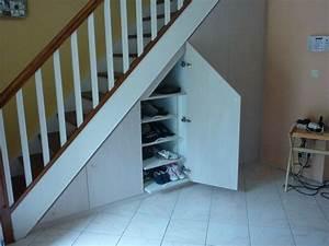 Aménagement de placards sous escaliers Les créations de pascal