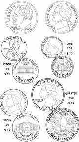 Coloring Pages Money Coin Concepts Clipart Coloringpagesfortoddlers Coins Varieties Teach Roman Guardado Desde Para Paper Open Escolares sketch template