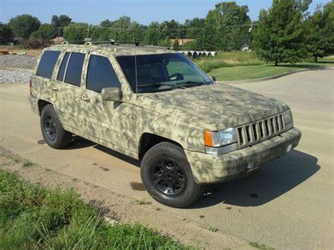 camo jeep grand cherokee sell used 1995 jeep grand cherokee 4x4 with custom camo