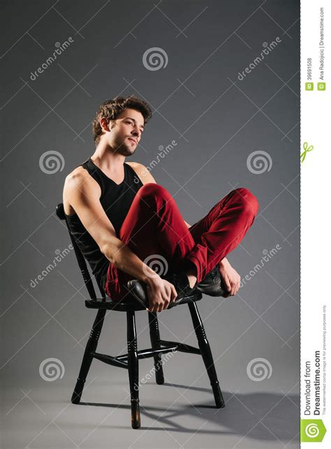 Sitting On The by Model Sitting On The Chair Stock Photo Image