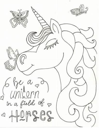 Unicorn Coloring Printable Mewarnai Colouring Sheets Malvorlage