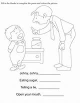 Fill Poem Blanks Complete Coloring Pages English Activity sketch template