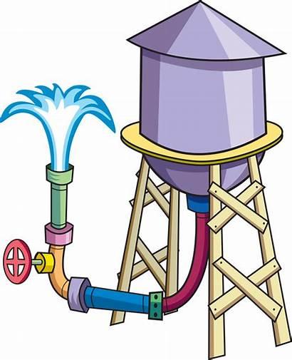 Water Tower Clipart Vector Cartoon Tank Clip