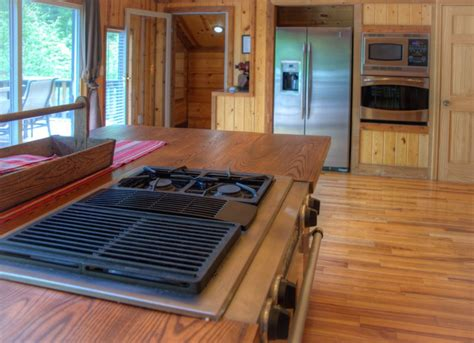 indoor kitchen island grill vineyard valley cabin rentals helen ga 4660