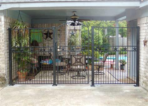 wrought iron breezeway fence breezeway fence ideas