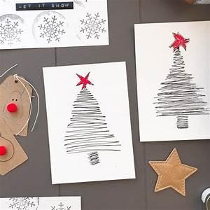 Basteln Mit Kindern Schnell Und Einfach : weihnachtskarten selber machen einfach schnell und mit ~ A.2002-acura-tl-radio.info Haus und Dekorationen