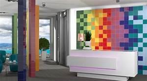 Carrelage Salle De Bain Couleur : fa ence 20x20 chroma architecture mainzu mainzu carrelage salle de bain fa ence couleur ~ Melissatoandfro.com Idées de Décoration
