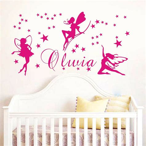 decoration mickey chambre custom name wall stickers baby bedroom mural