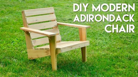 diy modern adirondack chair   build woodworking
