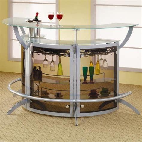 menu0027s cave bar furniture ideas v contemporary modular silver metal bar unit by coaster 100135
