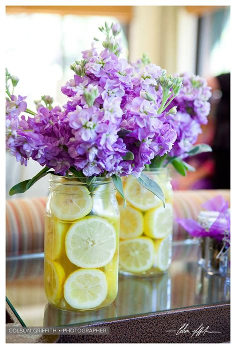 wedding decoration purple and yellow johnna and justins yosemite wedding at the ahwahnee hotel wedding details jars