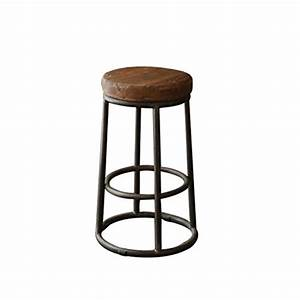 Tabouret Haut En Bois : qzz tabourets tabouret de bar tabouret en bois massif en fer tabouret de bar tabouret haut ~ Teatrodelosmanantiales.com Idées de Décoration