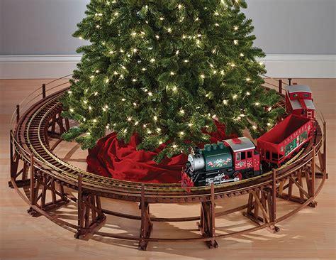 train tree christmas trestle railway around manhattan trains trees toy village wooden thegreenhead little stand ho