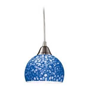 Kitchen Island Outlets Modern Mini Pendant Light With Blue Glass 10143 1pb Destination Lighting