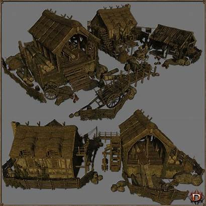 Medieval Lumbermill 3d Extended License Models