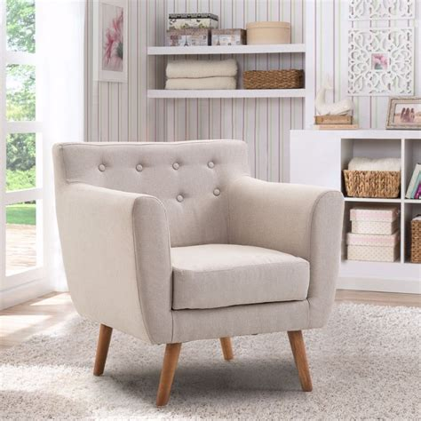 giantex living room arm chair tufted  fabric