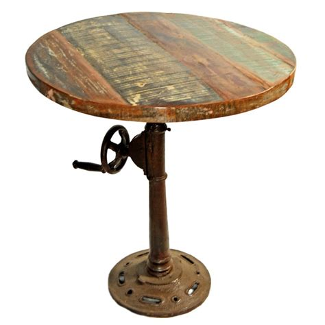 furniture rustic reclaimed wood pedestal quot round dining