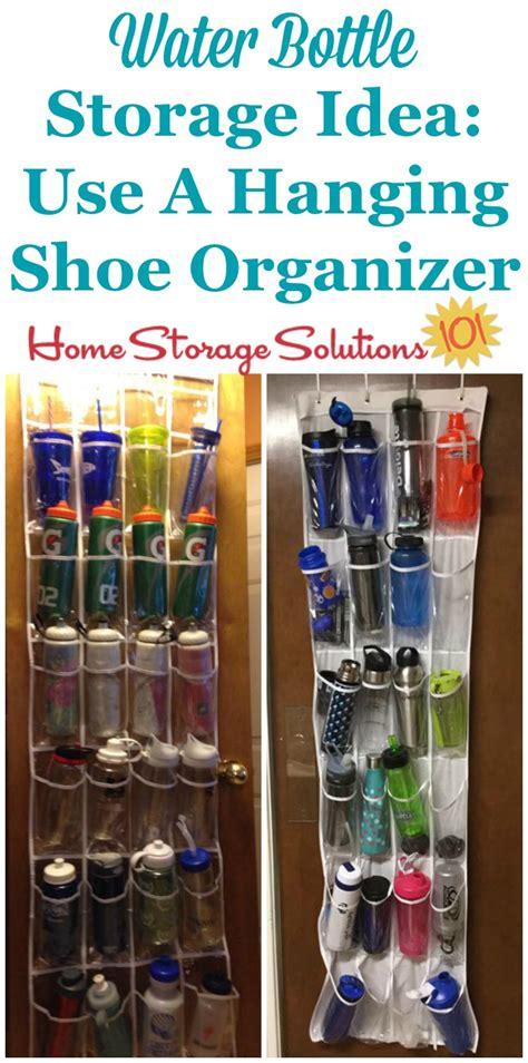 water bottle storage organization ideas