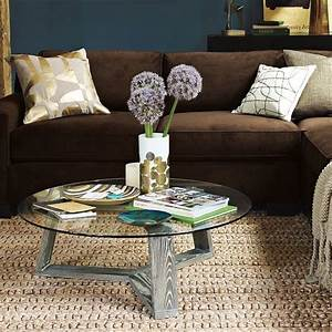 Ion glass round coffee table modern coffee tables by for West elm glass coffee table