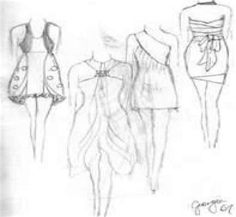 desain model baju desain mode sketsa desain baju