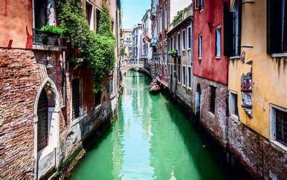 Italy Venice Town Italia Canal Boat Houses