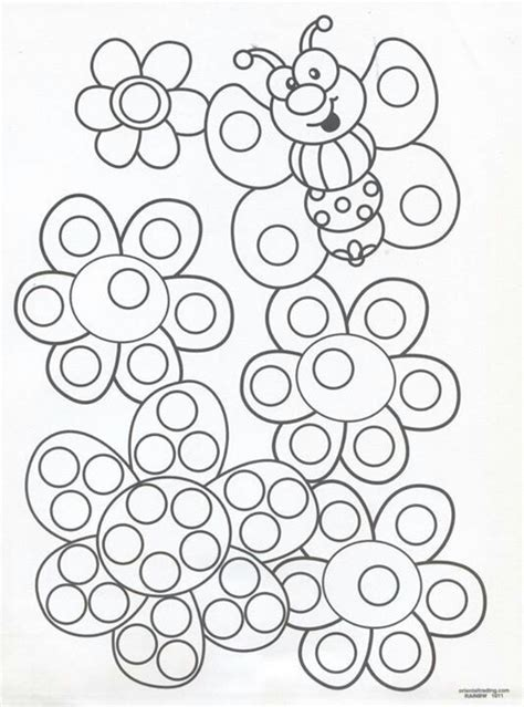 tip painting sheets  tip painting summer preschool themes dot marker printables