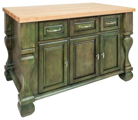 kitchen island with drawers antique green island with three drawers cabinets rustic kitchen islands and kitchen carts