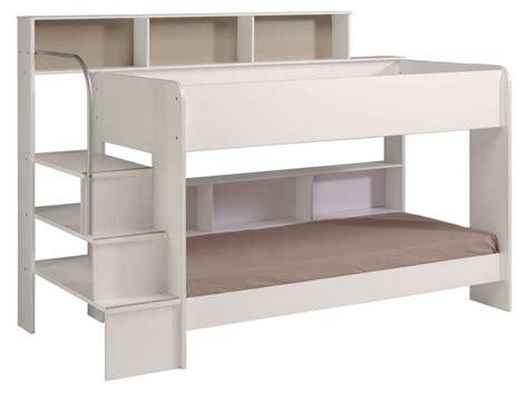 lit superpose blanc pas cher lit superpos 233 90x200 cm blanc bibop coloris blanc vente de lit enfant conforama