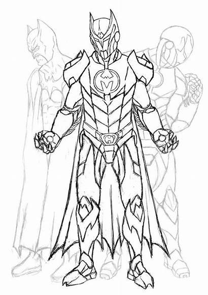 Coloring Pages Knights Knight Batman Dark Drawing